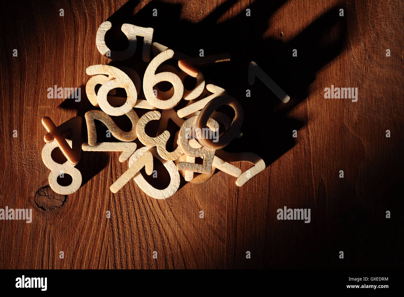 Heap Of Numbers - Stock Image