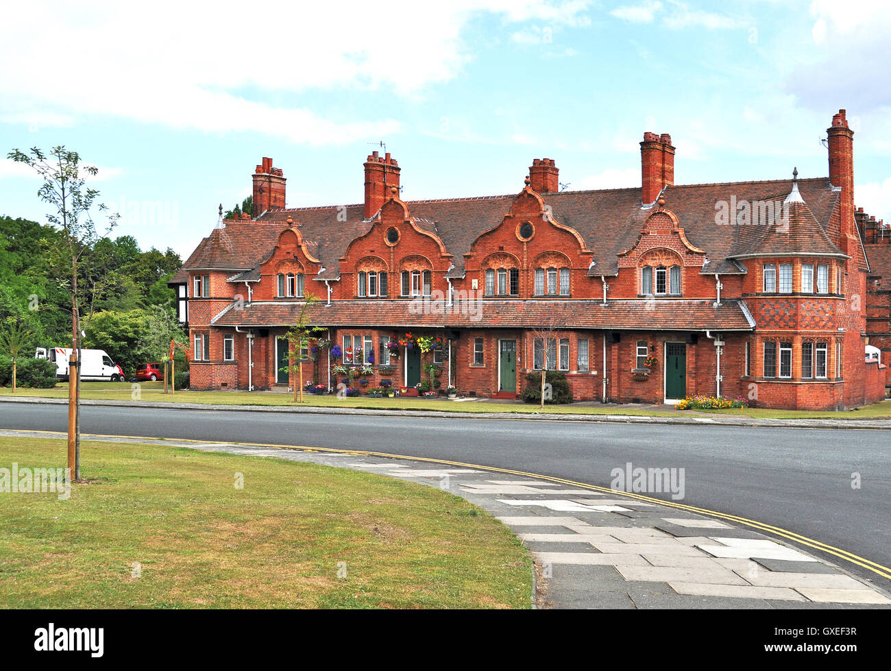 Housing in Port Sunlight village on the Wirral, Merseyside, England, UK - Stock Image