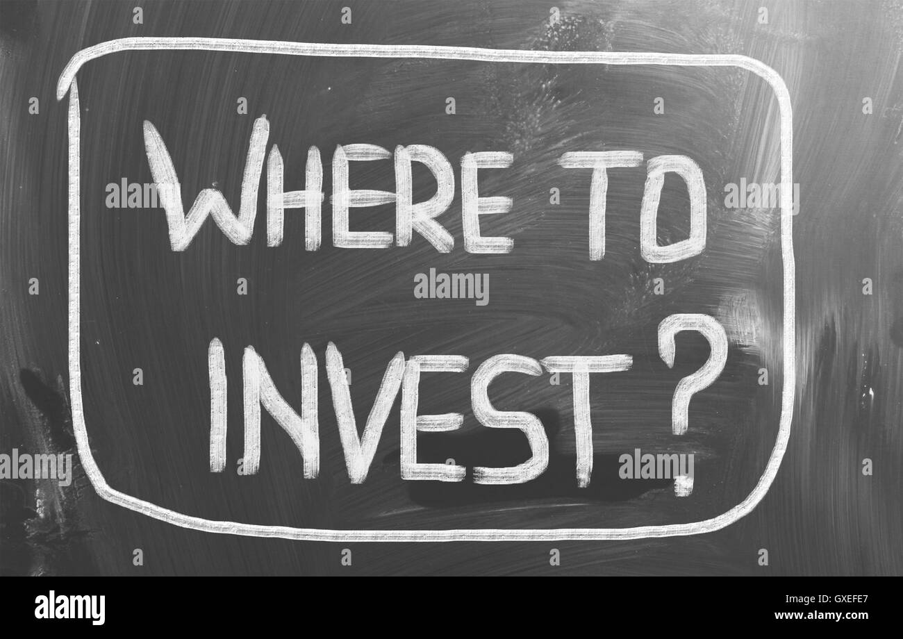 Where To Invest Concept - Stock Image