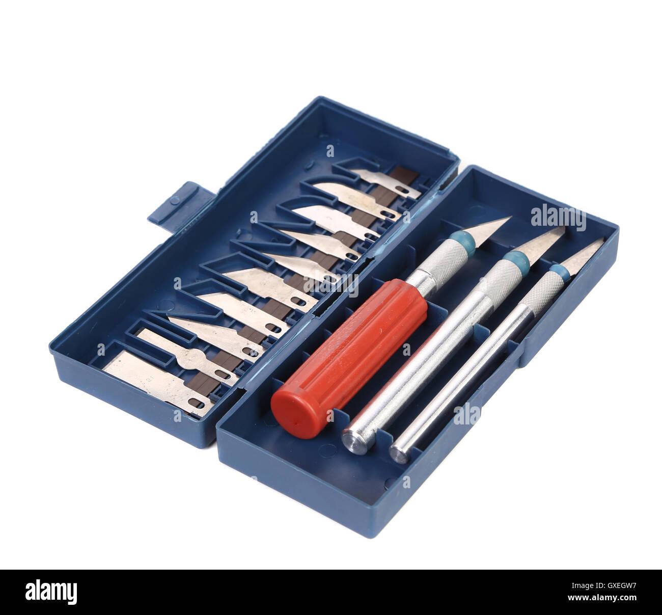 Set of Craft Knifes. - Stock Image