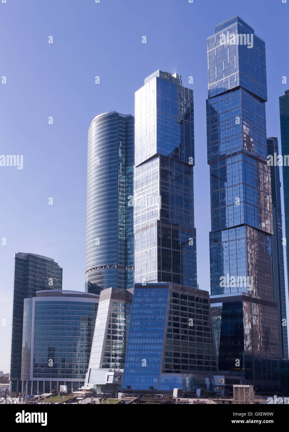 Contemporary russian business architecture concept: modern Stock ...