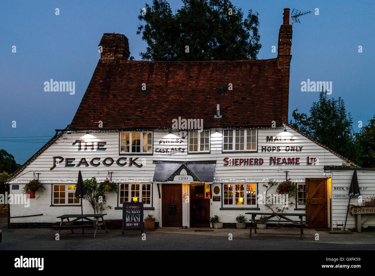 The Peacock Public House, Goudhurst, Kent, UK - Stock Image