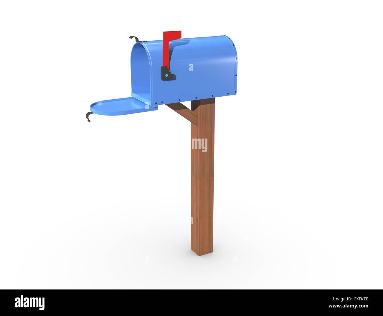mailbox flag up. Fine Mailbox A 3D Rendering Of A Blue And Empty US Mailbox Open With Clean Casing  Red Flag Up On Mailbox Flag Up L
