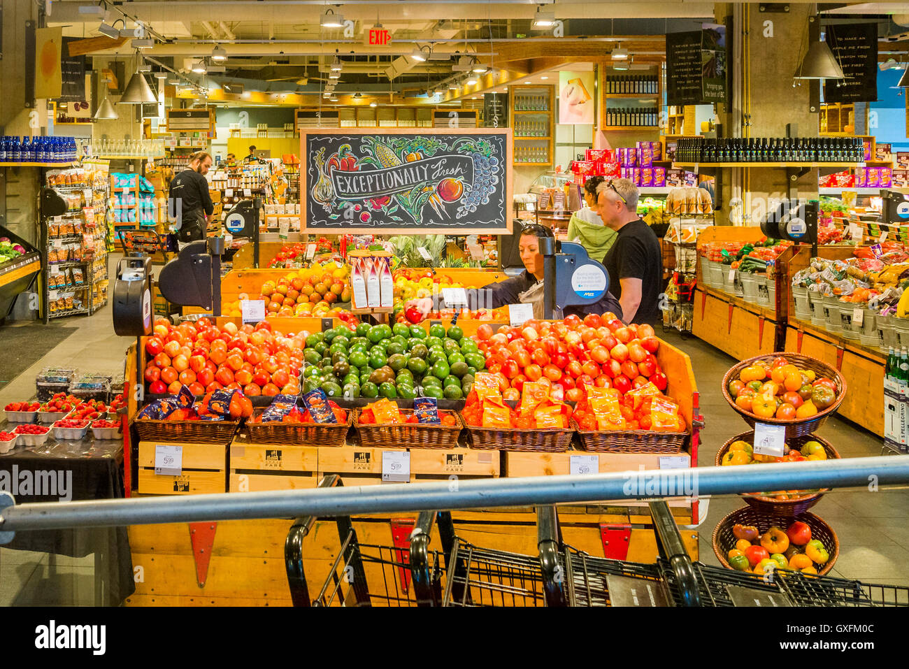 Fresh fruit, Urban Fare Grocery Store, Vancouver, British Columbia, Canada - Stock Image