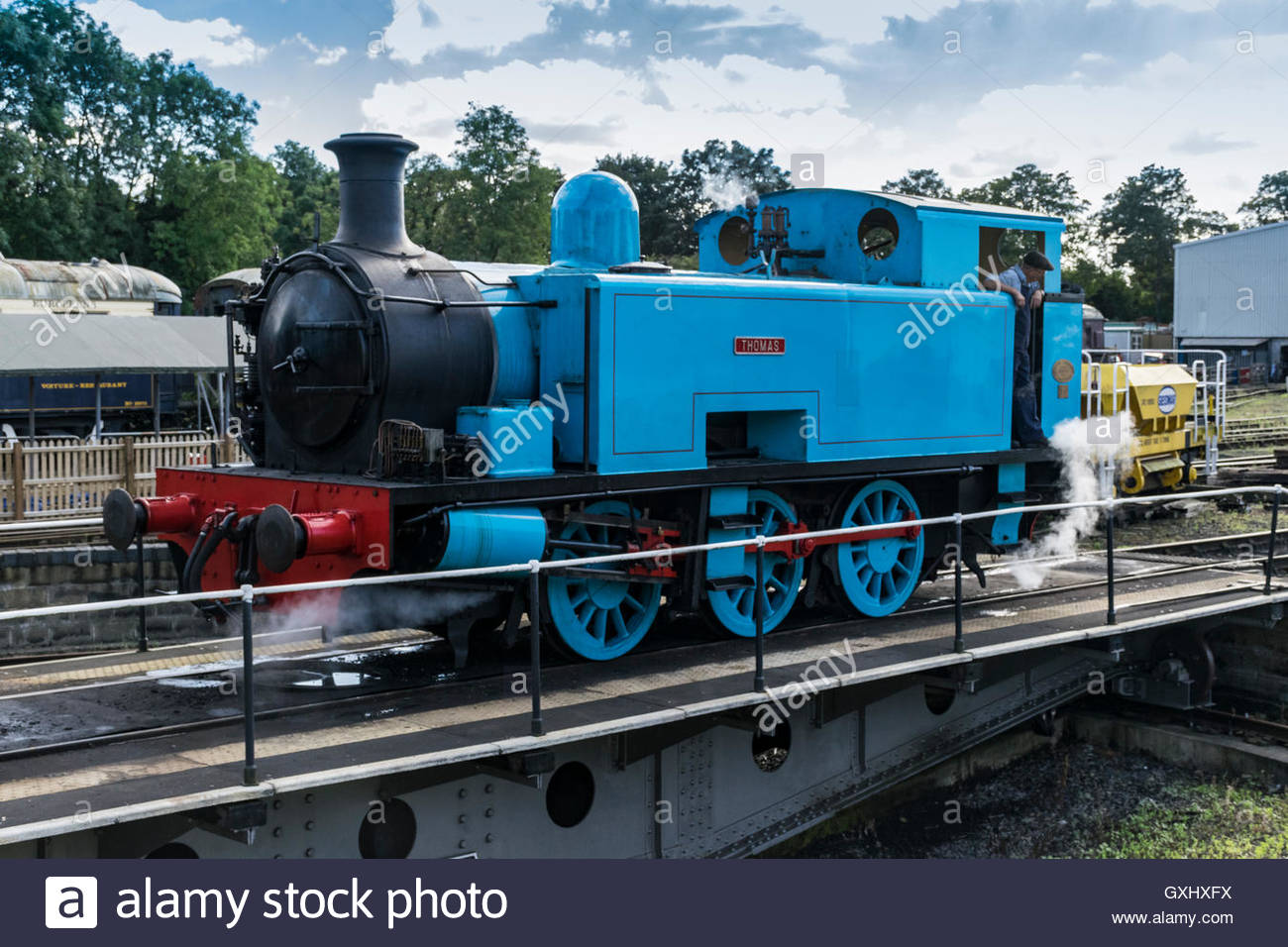 Marvelous A Thomas Tank Engine On The Turntable At Wansford On The Home Remodeling Inspirations Genioncuboardxyz
