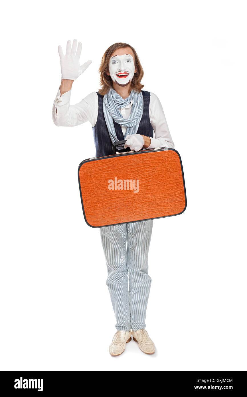 mime actor someone welcomes - Stock Image