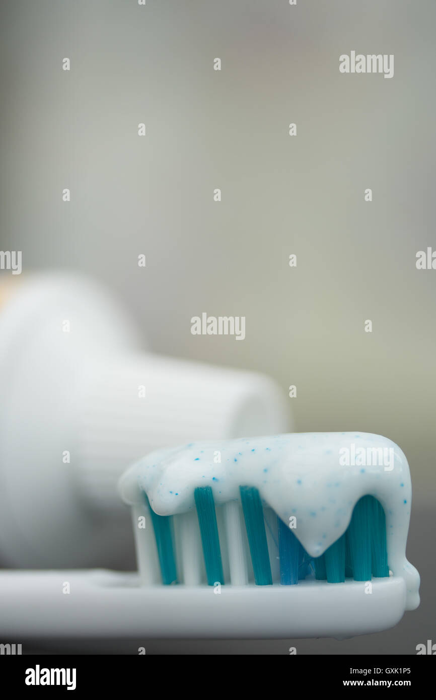 Toothpaste containing Plastic Microbeads - Stock Image