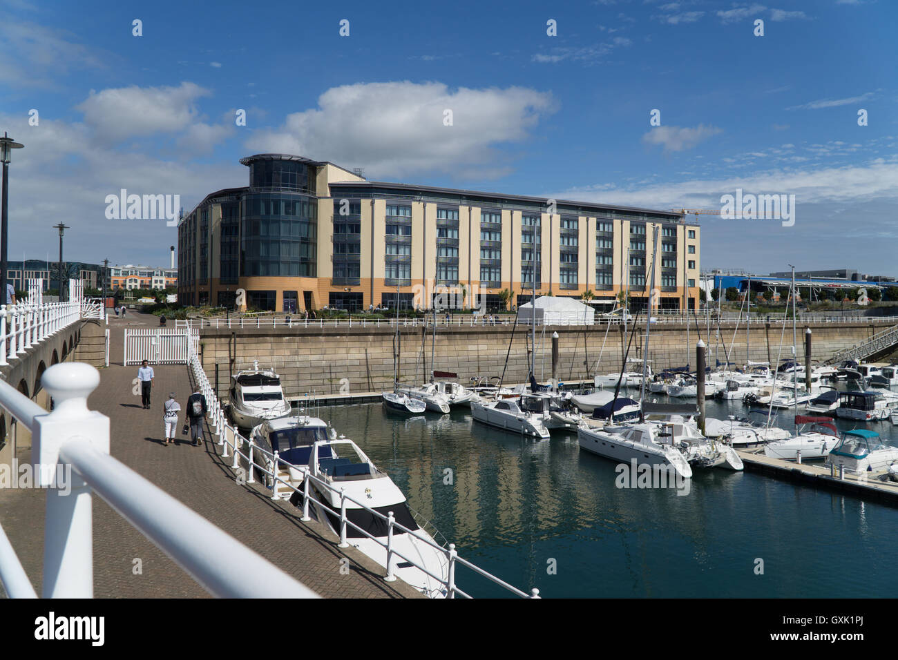 Radisson Blu Hotel located at the Waterfront,Jersey,Channel Islands, - Stock Image