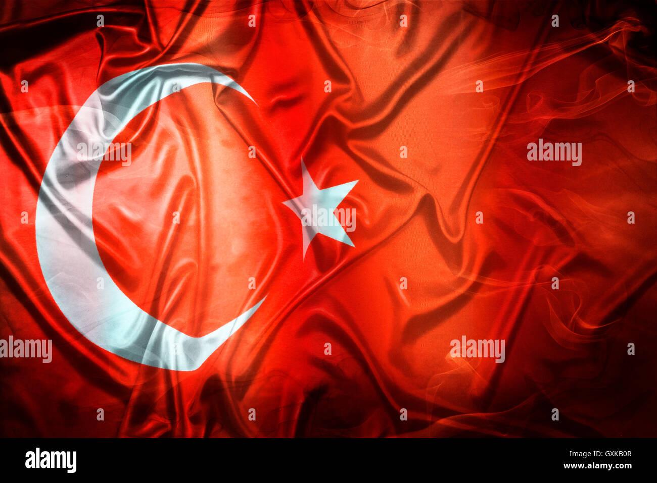Fahne der Türkei Stock Photo