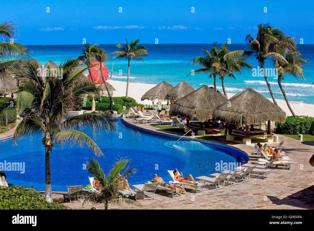 Cancun beach, Yucatan, Mexico - Stock Image