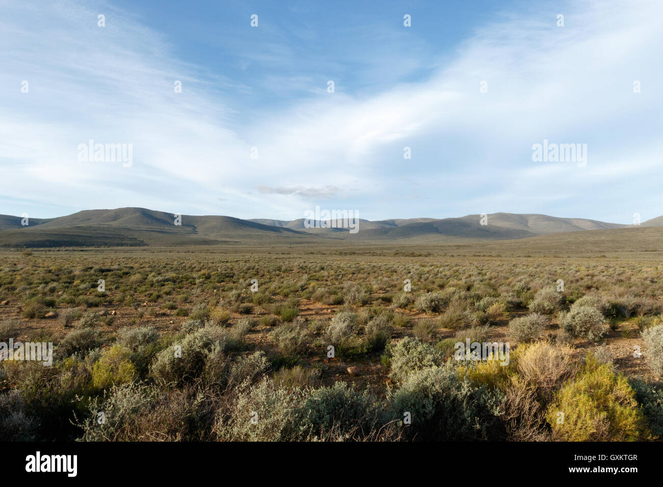 Green Mountains - Sutherland is a town with about 2,841 inhabitants in the Northern Cape province of South Africa. - Stock Image