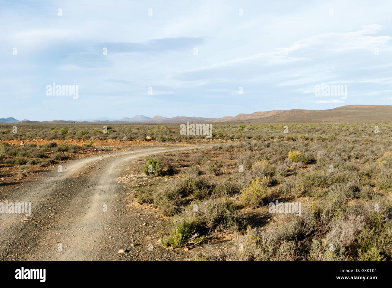 The Road - Sutherland is a town with about 2,841 inhabitants in the Northern Cape province of South Africa. It lies - Stock Image