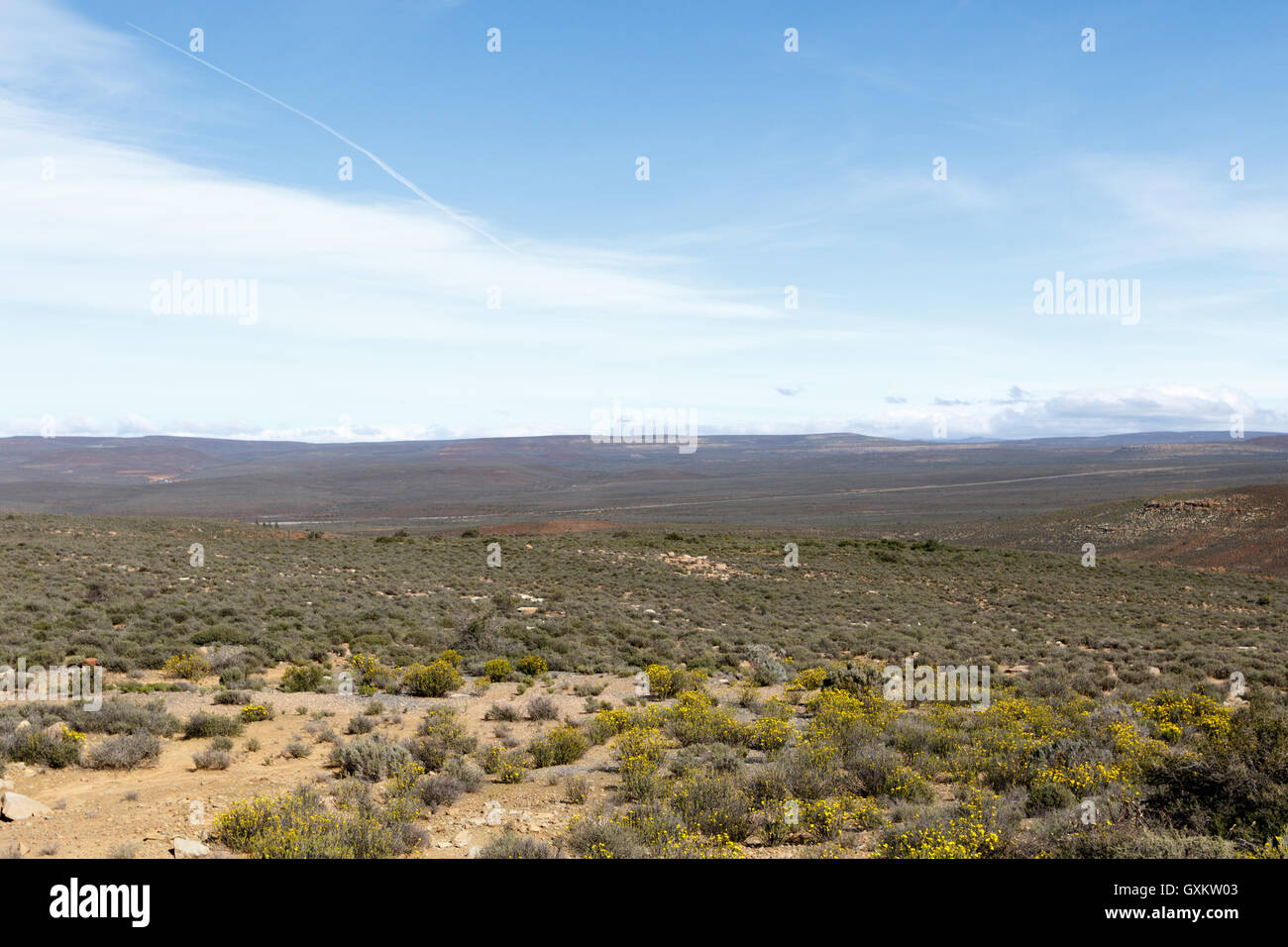 Just Empty - Sutherland is a town with about 2,841 inhabitants in the Northern Cape province of South Africa. It - Stock Image
