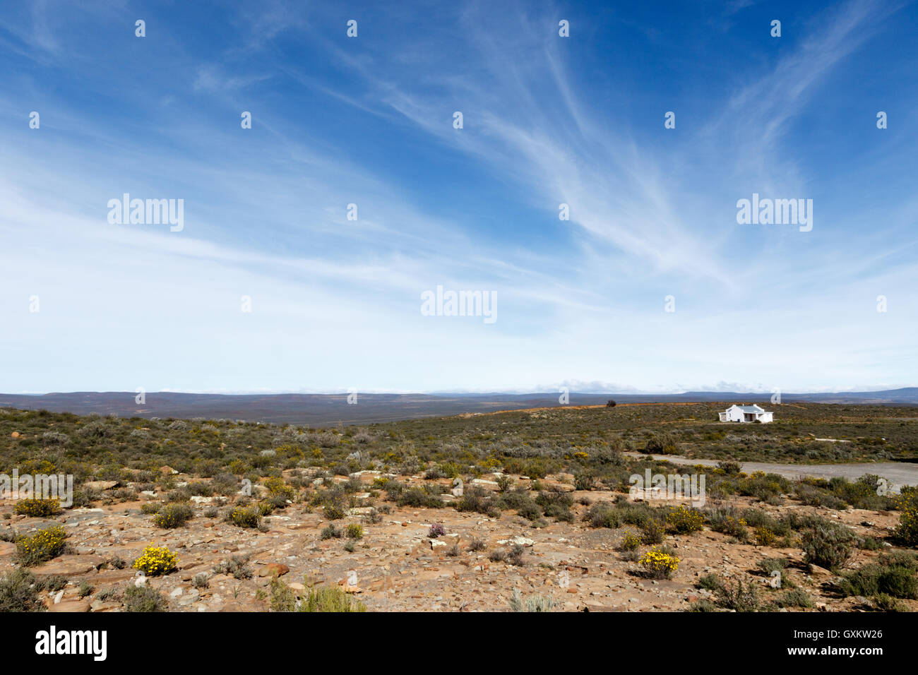 Landscape Sutherland -Sutherland is a town with about 2,841 inhabitants in the Northern Cape province of South Africa. - Stock Image