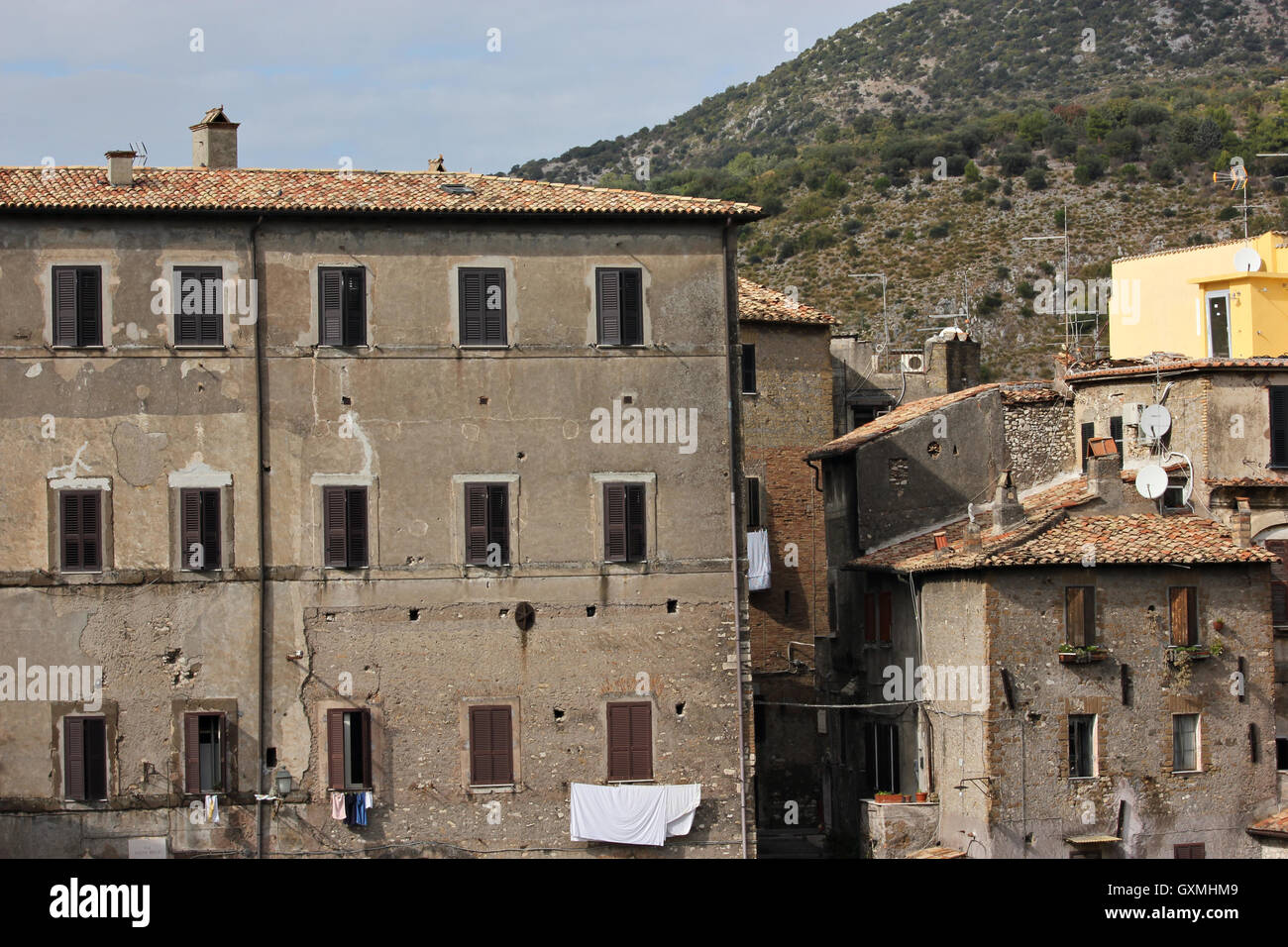 old fascinating buildings in Tivoli, Italy Stock Photo