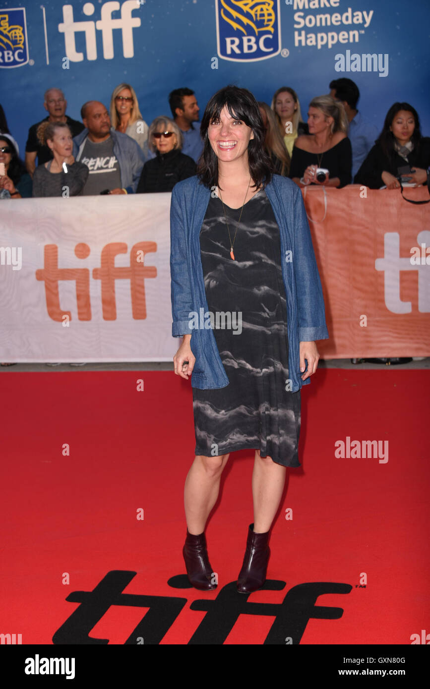 Toronto, Ontario, Canada. 16th Sep, 2016. Composer SHARON VAN ELLEN attends 'Strange Weather' premiere during - Stock Image