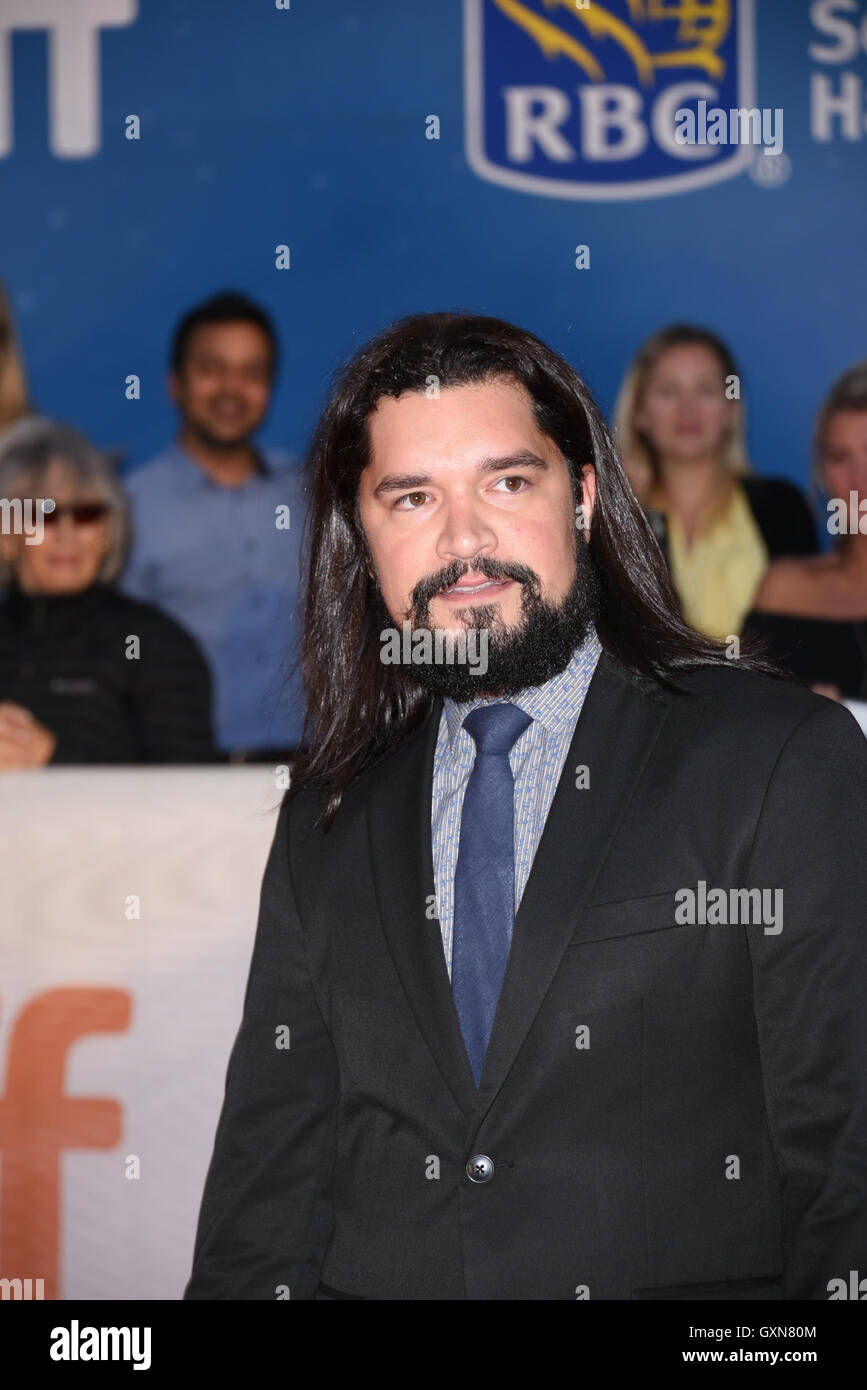 Toronto, Ontario, Canada. 16th Sep, 2016. Actor CRAIR BOE attends 'Strange Weather' premiere during the - Stock Image