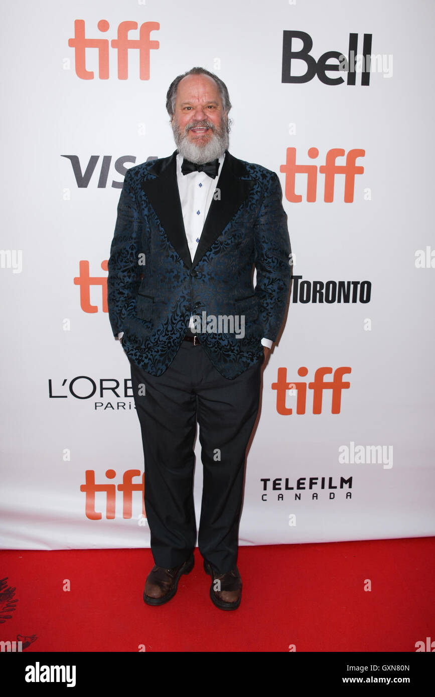 Toronto, Ontario, Canada. 16th Sep, 2016. Actor RITCHIE MONTGOMERY attends 'Strange Weather' premiere during - Stock Image