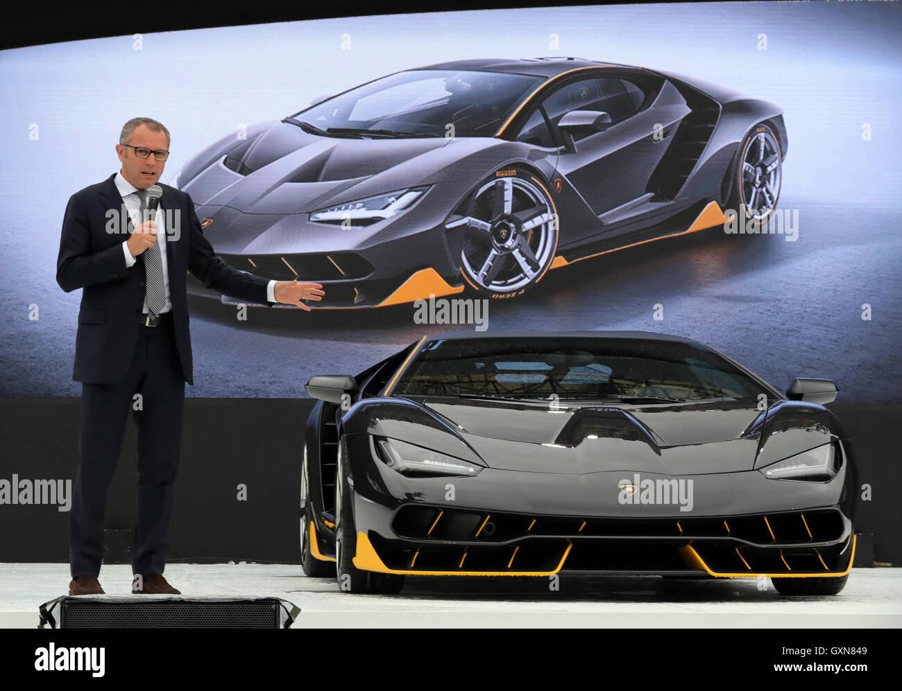 Tokyo Japan 16th September 2016 Italian Sports Car Maker Stock