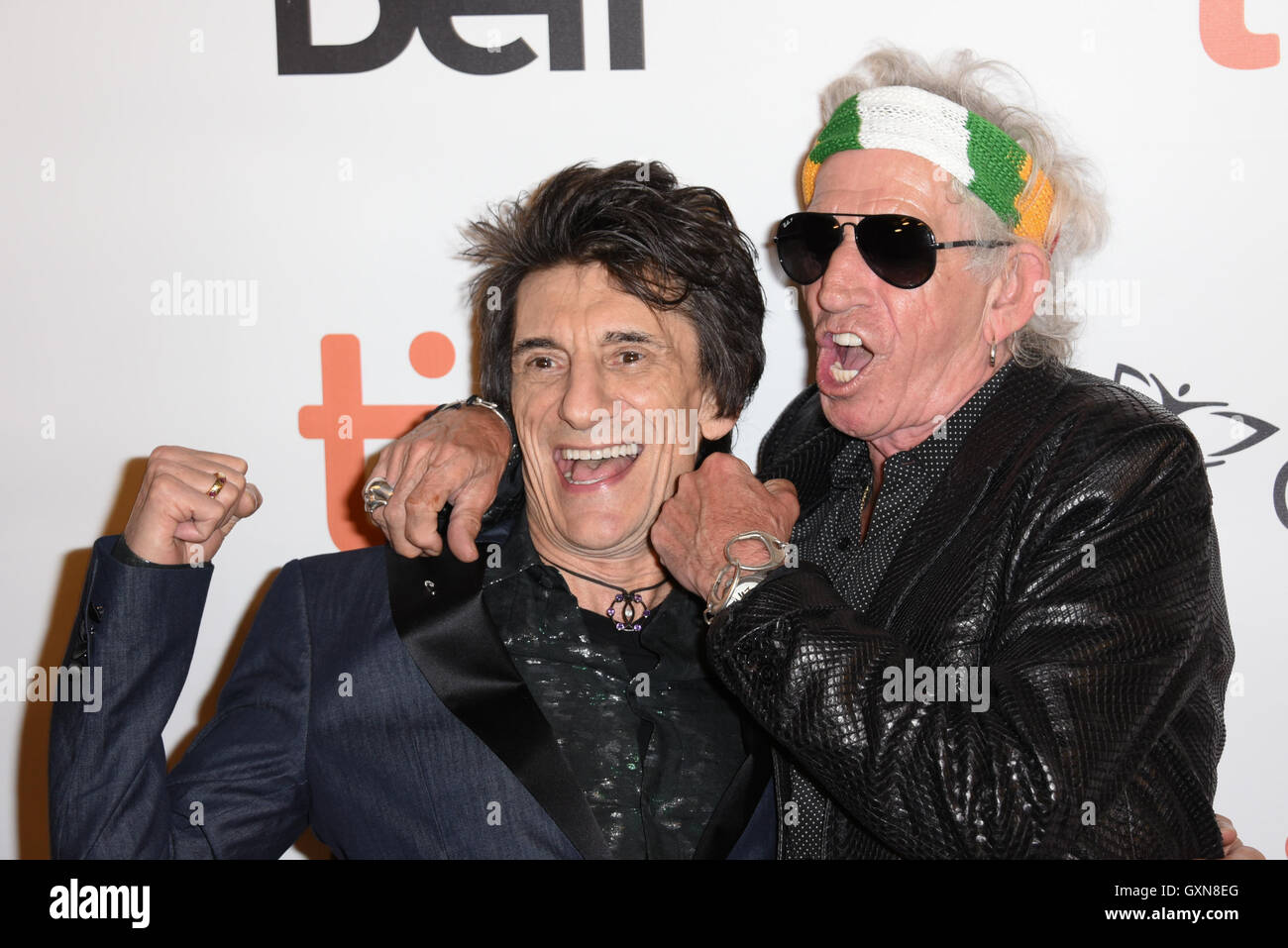 Toronto, Ontario, Canada. 16th Sep, 2016. The Rollings Stones guitarists KEITH RICHARDS and RONNIE WOOD attend the - Stock Image