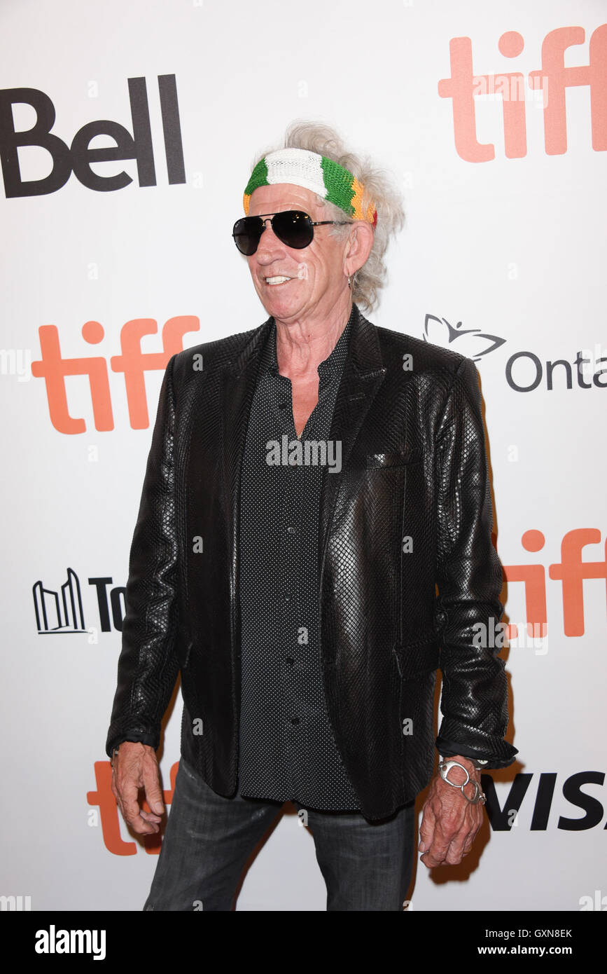 Toronto, Ontario, Canada. 16th Sep, 2016. The Rollings Stones guitarist KEITH RICHARDS attends the 'The Rolling - Stock Image
