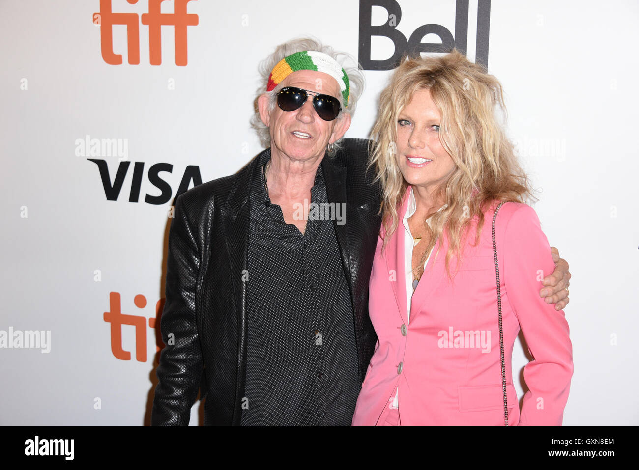 Toronto, Ontario, Canada. 16th Sep, 2016. The Rollings Stones guitarist KEITH RICHARDS and his wife PATTI HANSEN - Stock Image