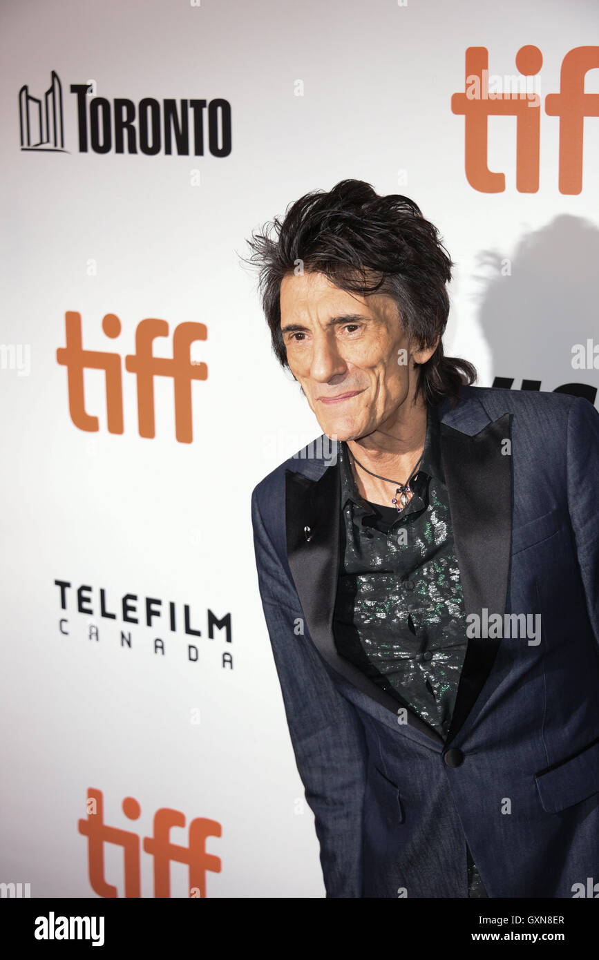 Toronto, Ontario, Canada. 16th Sep, 2016. The Rollings Stones guitarist RONNIE WOOD attendS the 'The Rolling - Stock Image