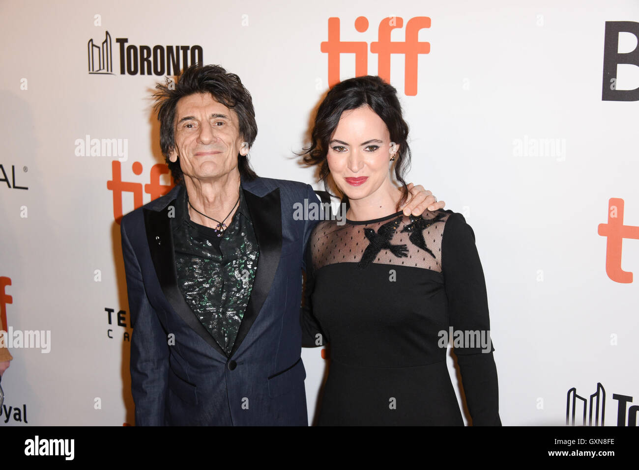 Toronto, Ontario, Canada. 16th Sep, 2016. The Rollings Stones guitarist RONNIE WOOD and wife SALLY HUMPHREYS attend - Stock Image