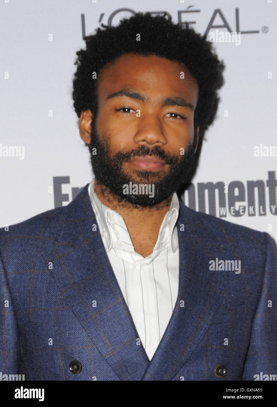 West Hollywood, CA, USA. 16th Sep, 2016. 16 September 2016 - West Hollywood, California. Donald Glover. 2016 Entertainment - Stock Image