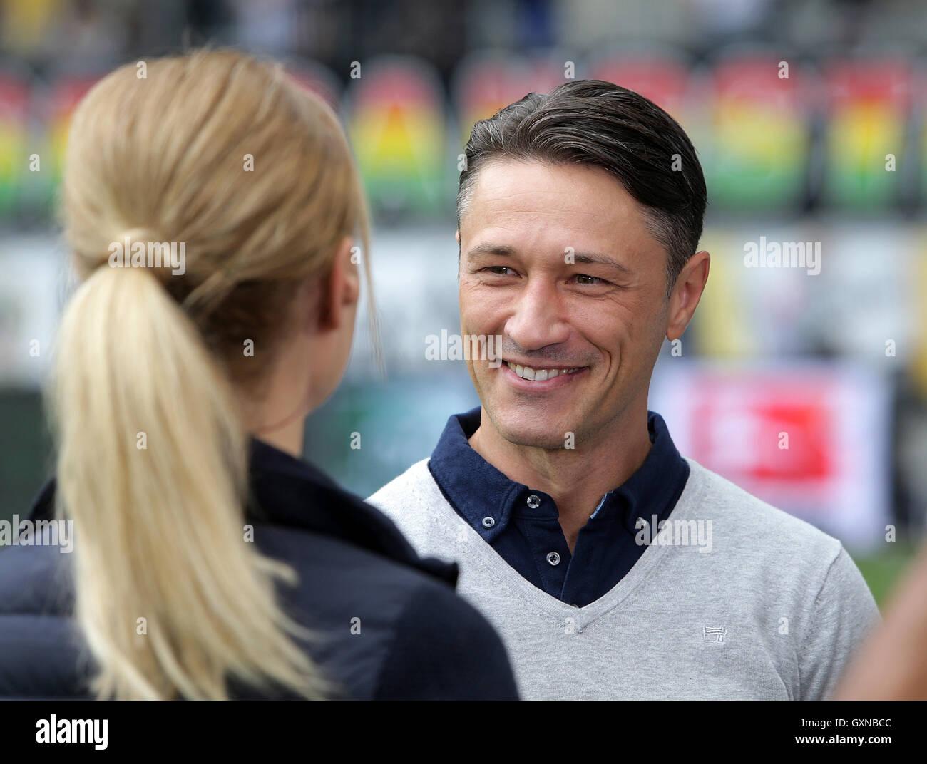Frankfurt coach Niko Kovac gives an interview ahead of the
