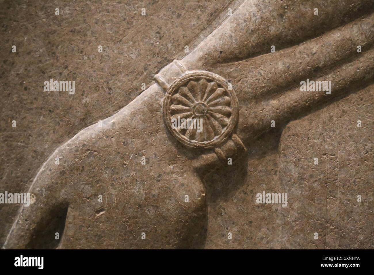 Relief. God Nisroch. Jewel. 9th century BC. Neo-Assyrian. Reign of Ashurnasirpal. Nimrud (ancient Kalhu). Northern Stock Photo