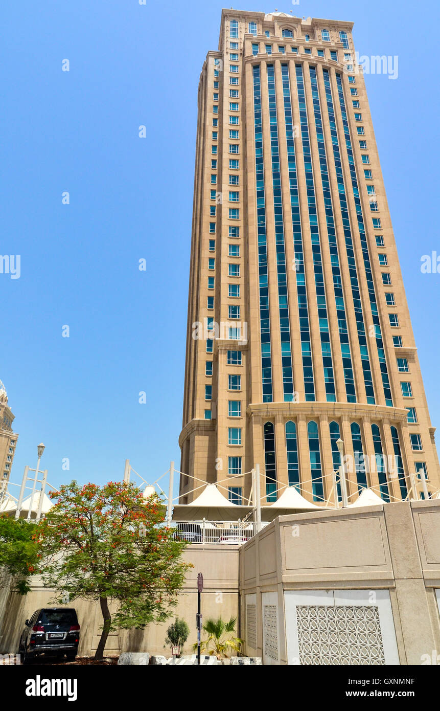 QIA building (Qatar Investment Authority) in the West Bay financial district of Doha, Qatar - Stock Image