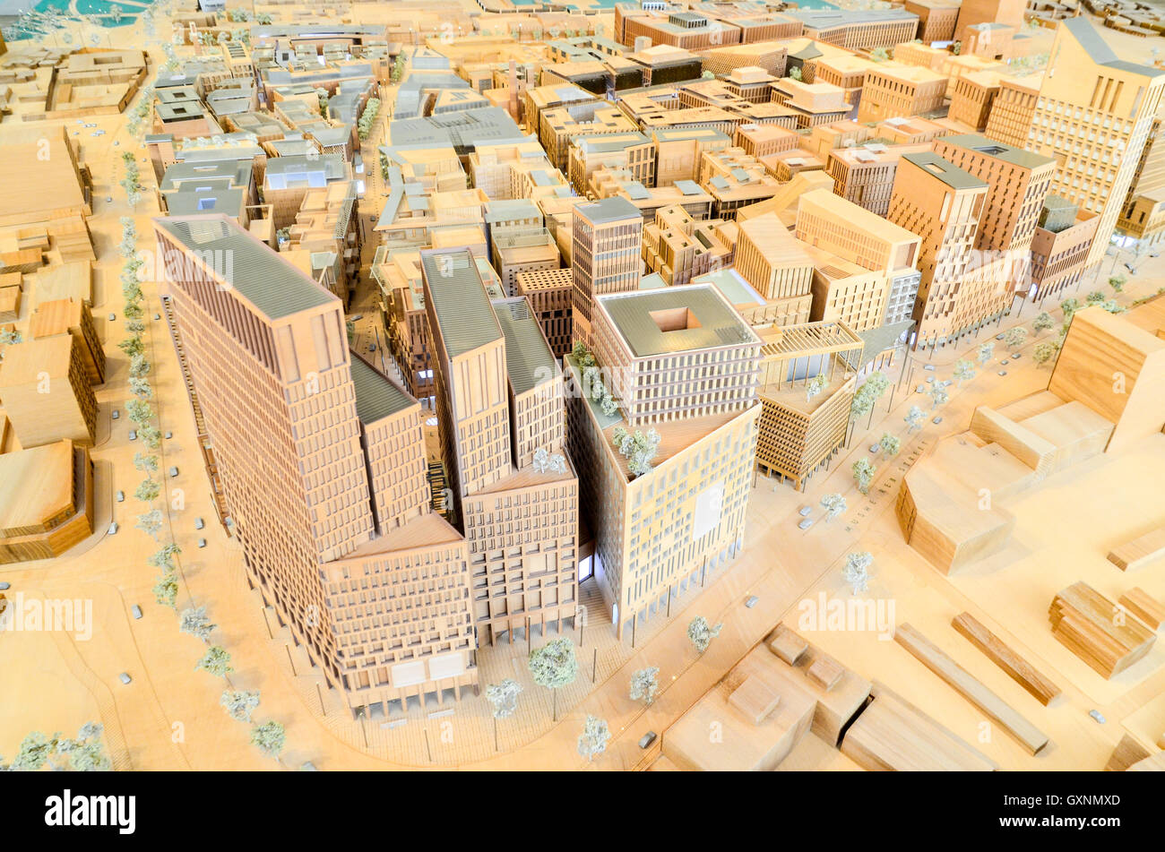Scale model of Downtown Doha at the Msheireb Enrichment Centre - Stock Image
