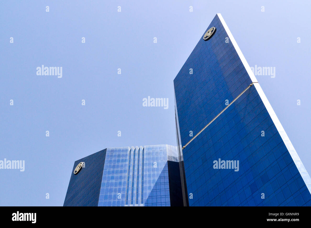 Samrya Twin Towers in Doha, Qatar - Stock Image