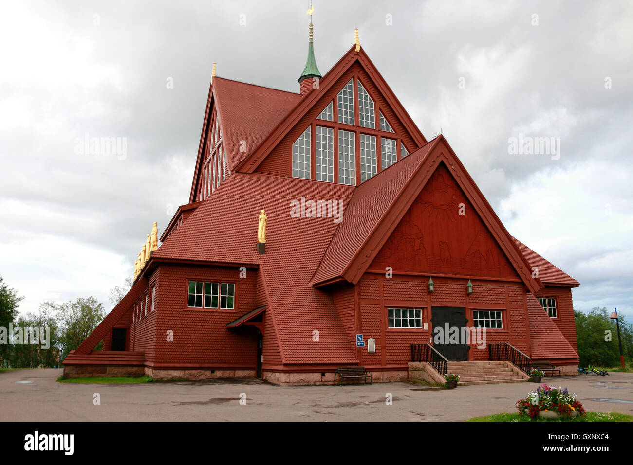 Impressionen: Kirche, Kiruna, Lappland, Schweden. - Stock Image