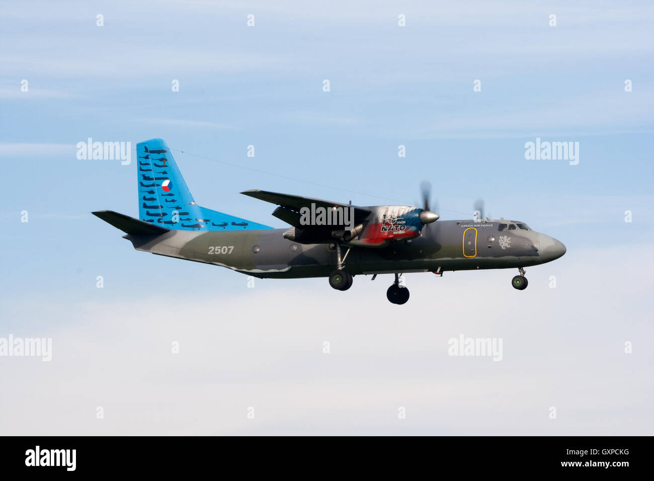 Special painted Czech Republic Air Force Antonov An-26 Curl transport plane - Stock Image