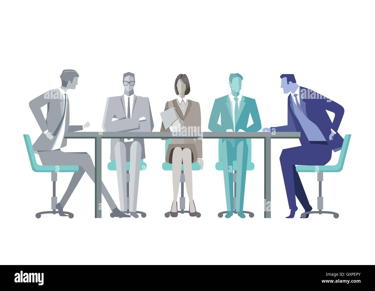 Fantastic Group Discussion Table Cut Out Stock Images Pictures Alamy Beutiful Home Inspiration Ommitmahrainfo