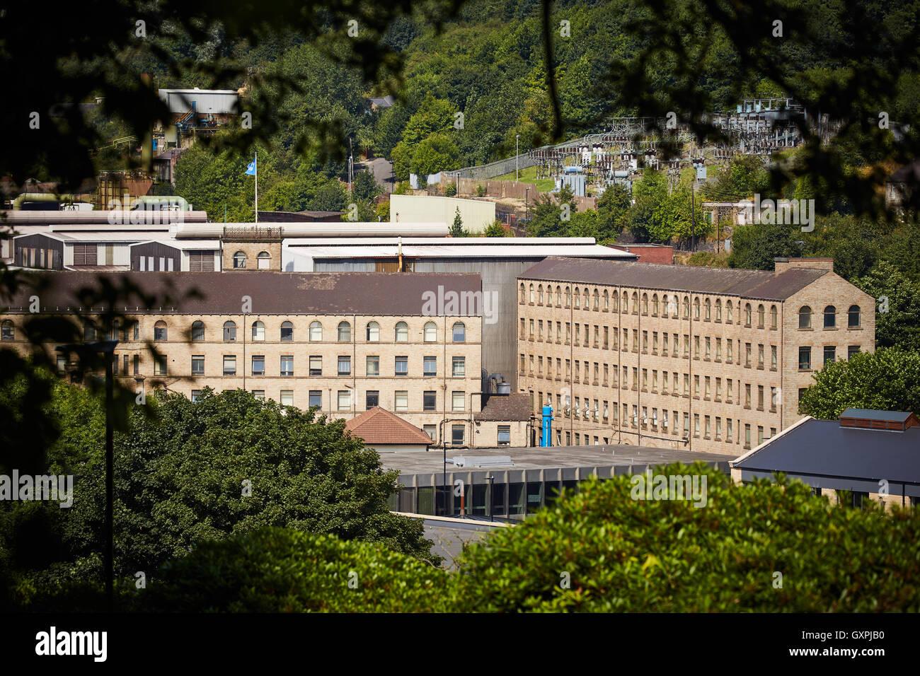 Stockbridge tata Steel works mills   valley warehouse store buildings architecture originally cotton mills site - Stock Image