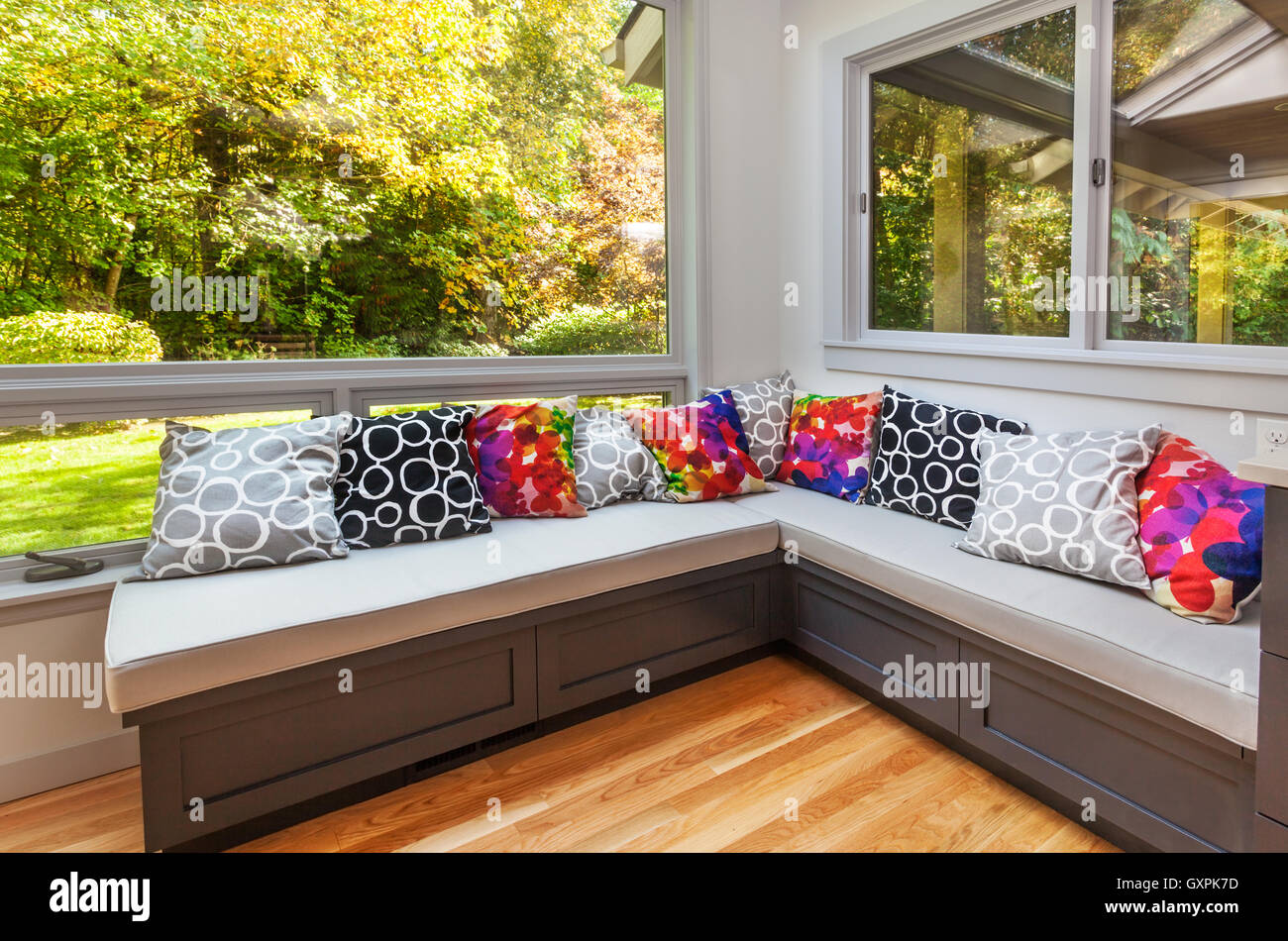 Fabulous Window Seat Pillows Stock Photos Window Seat Pillows Stock Dailytribune Chair Design For Home Dailytribuneorg