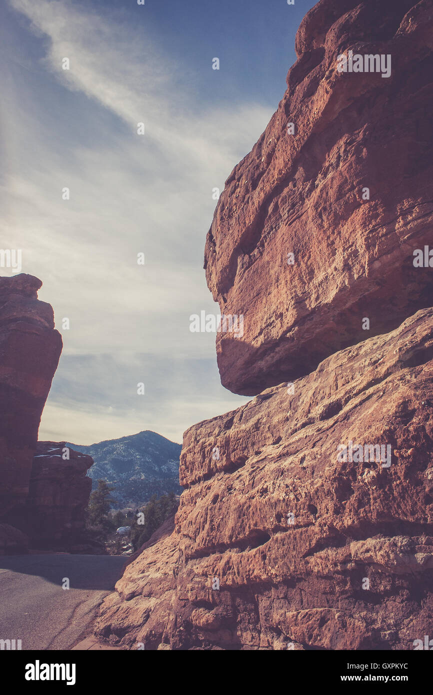 Red Rock - Stock Image