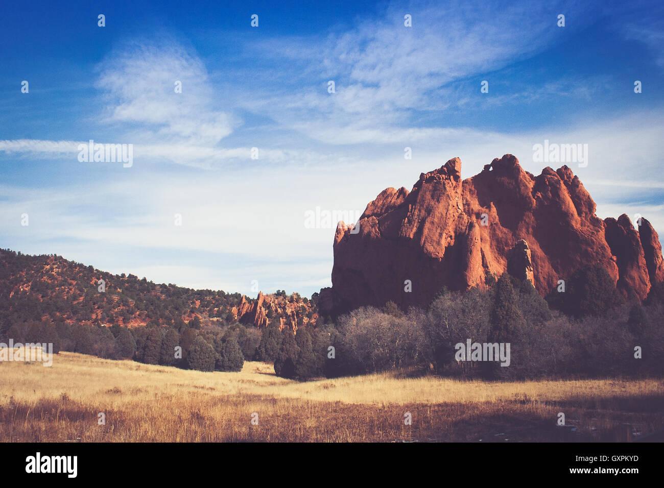 Landscape of Rock Formation - Stock Image