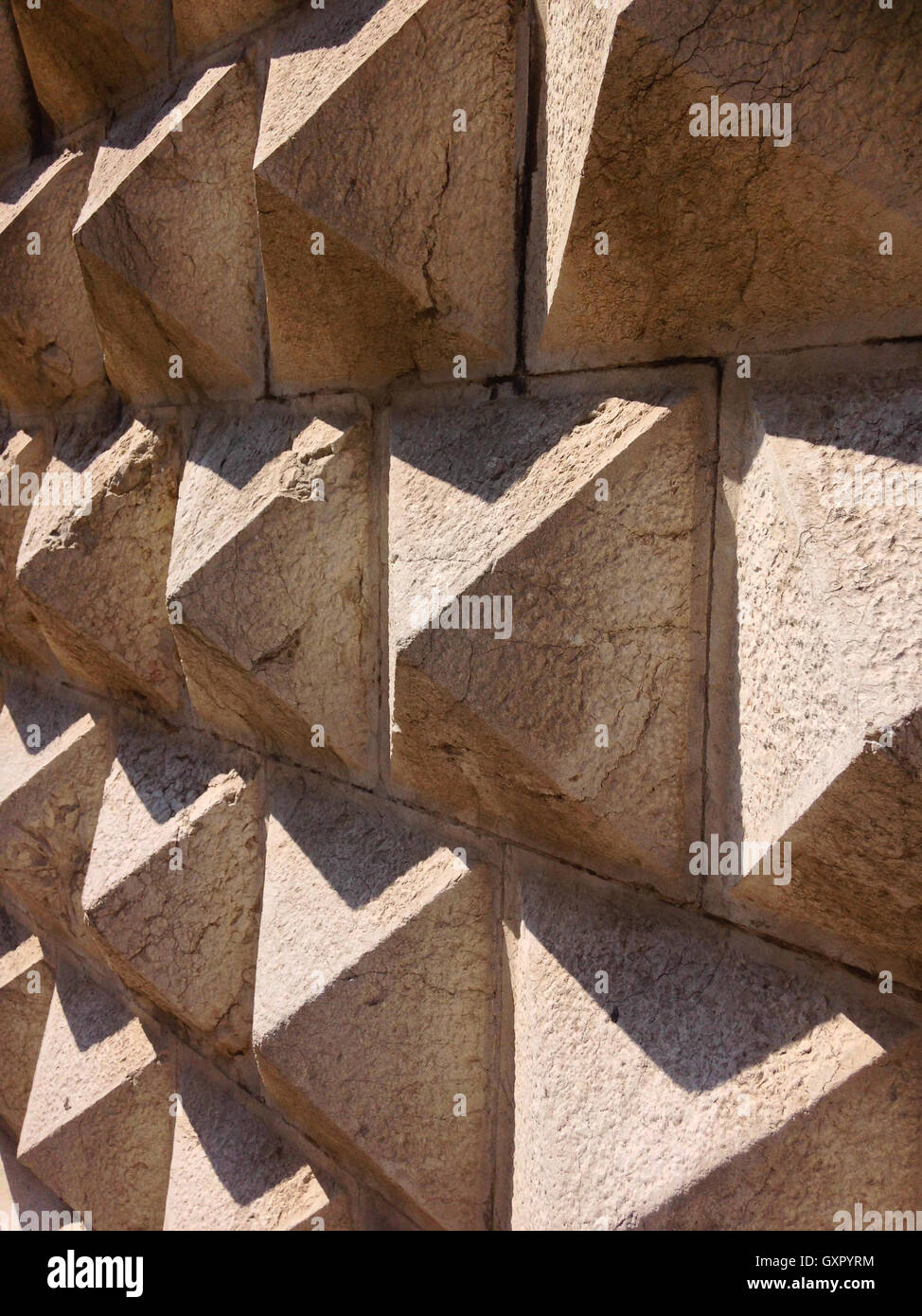 Marble diamond shapes / pyramids - Stock Image