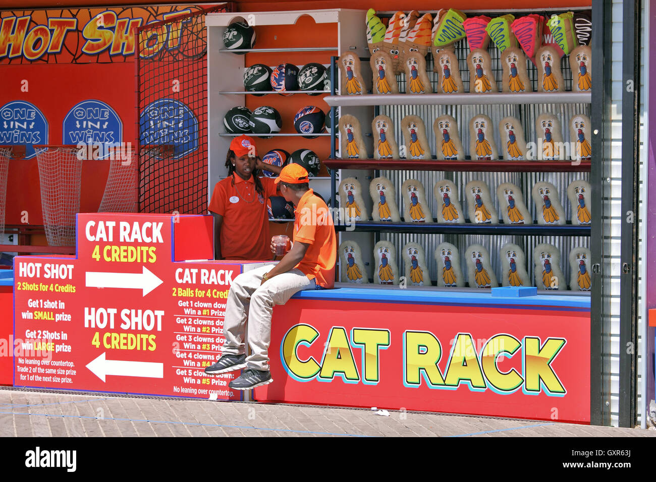 Arcade game Coney Island Brooklyn New York City - Stock Image