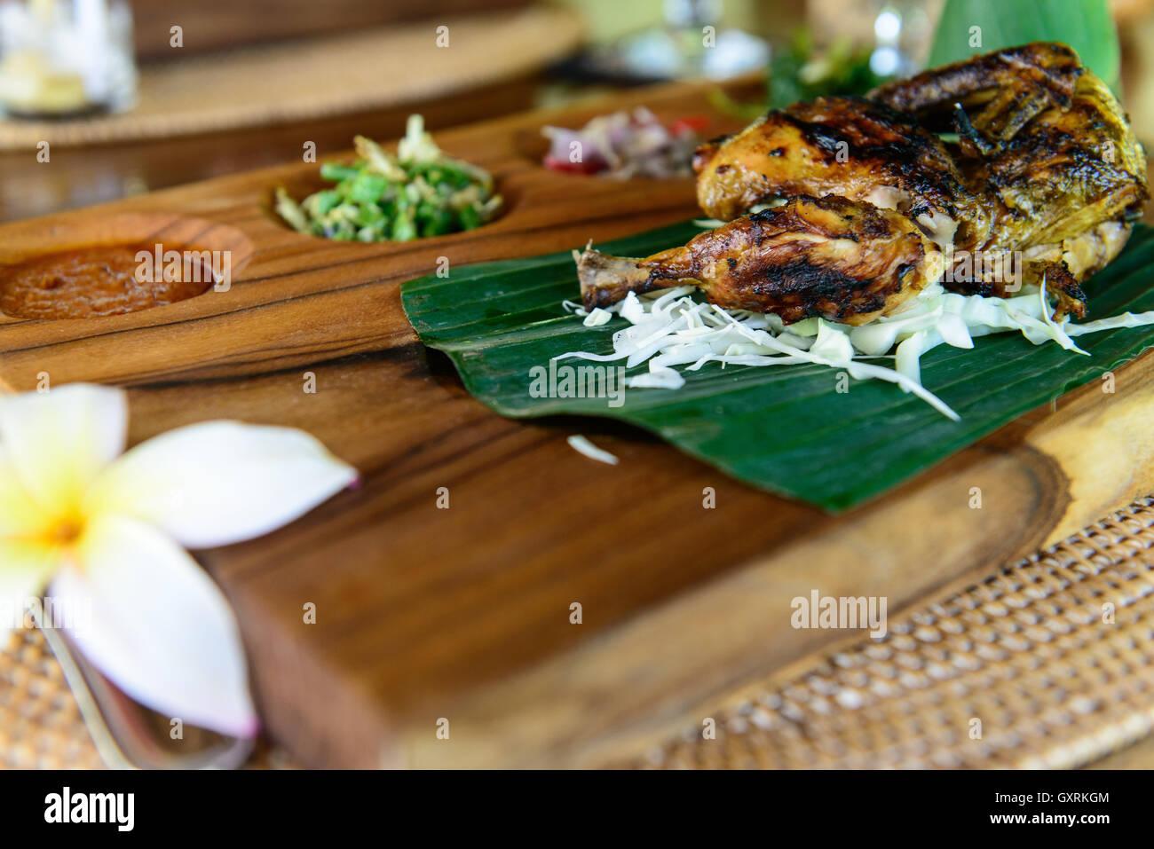 Fleischgericht   meat dish Stock Photo