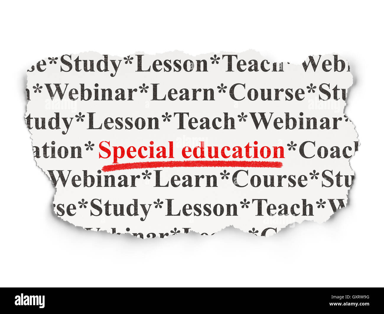 On Special Education How To Use Paper >> Education Concept Special Education On Paper Background Stock Photo