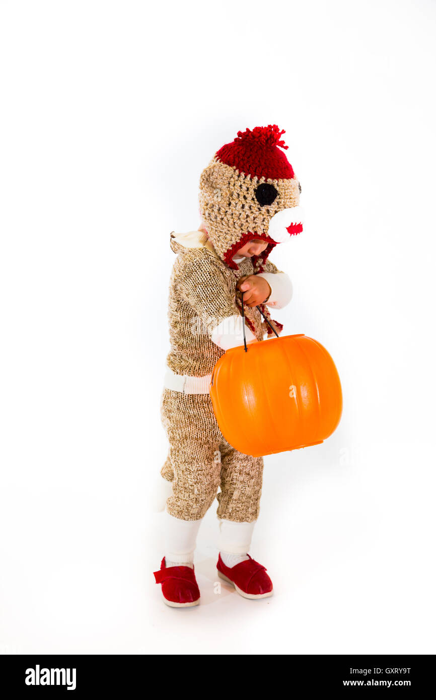 Sock Monkey Halloween Costume  sc 1 st  Alamy & Sock Monkey Halloween Costume Stock Photo: 119769604 - Alamy