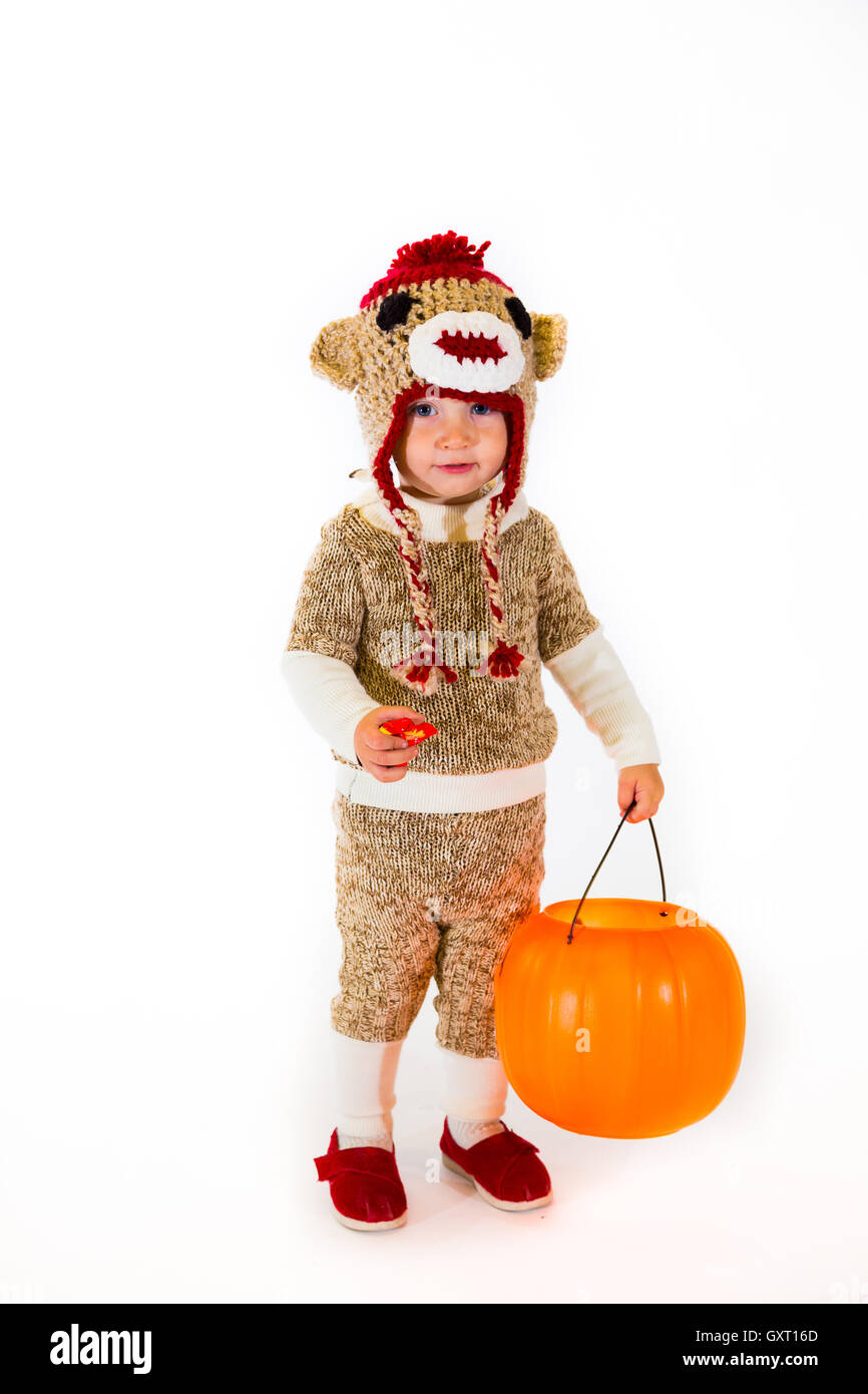 Sock Monkey Halloween Costume  sc 1 st  Alamy & Sock Monkey Halloween Costume Stock Photo: 119771077 - Alamy