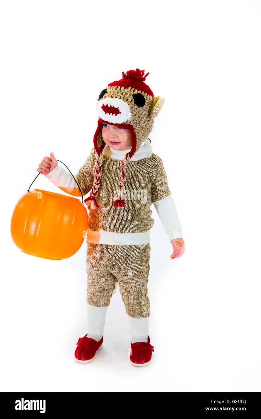 sock monkey halloween costume stock photo: 119772678 - alamy