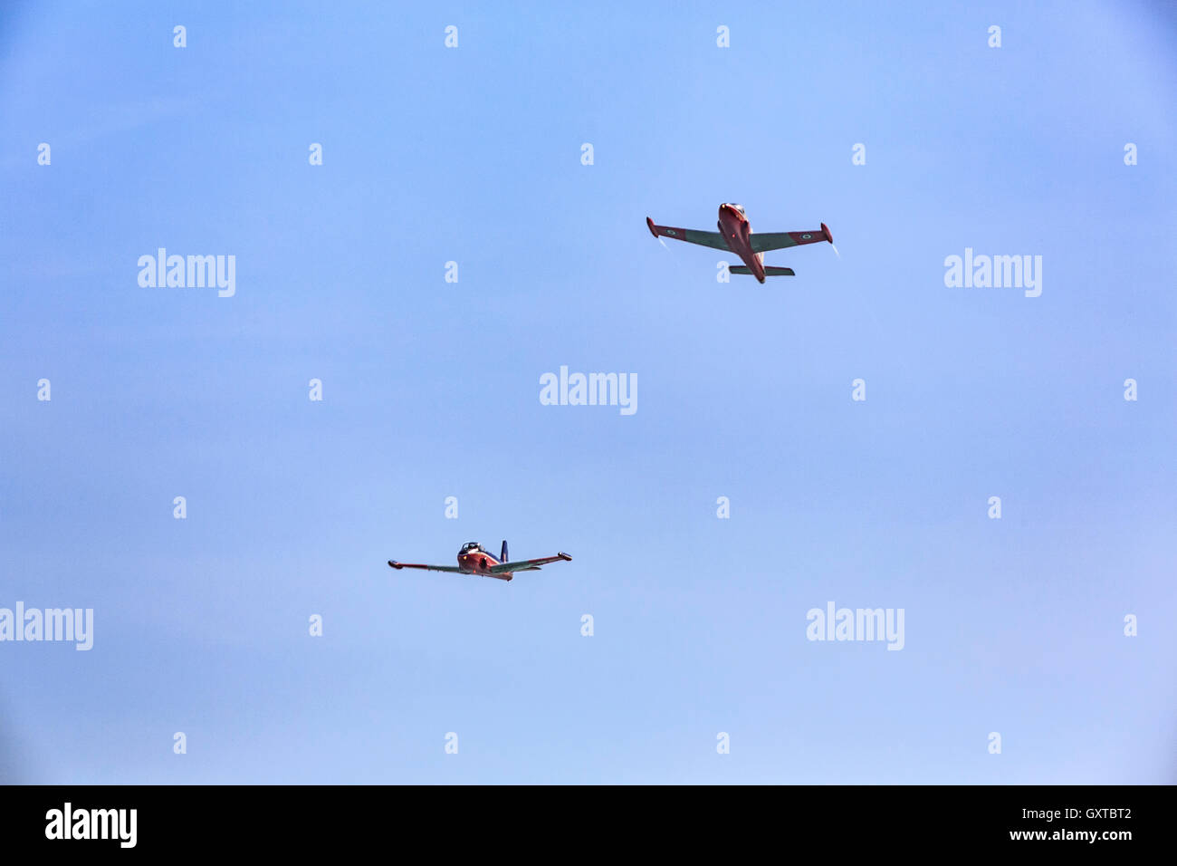 Jet Provost Display Team in action at Eastbourne Airshow Airbourne 2016 Stock Photo