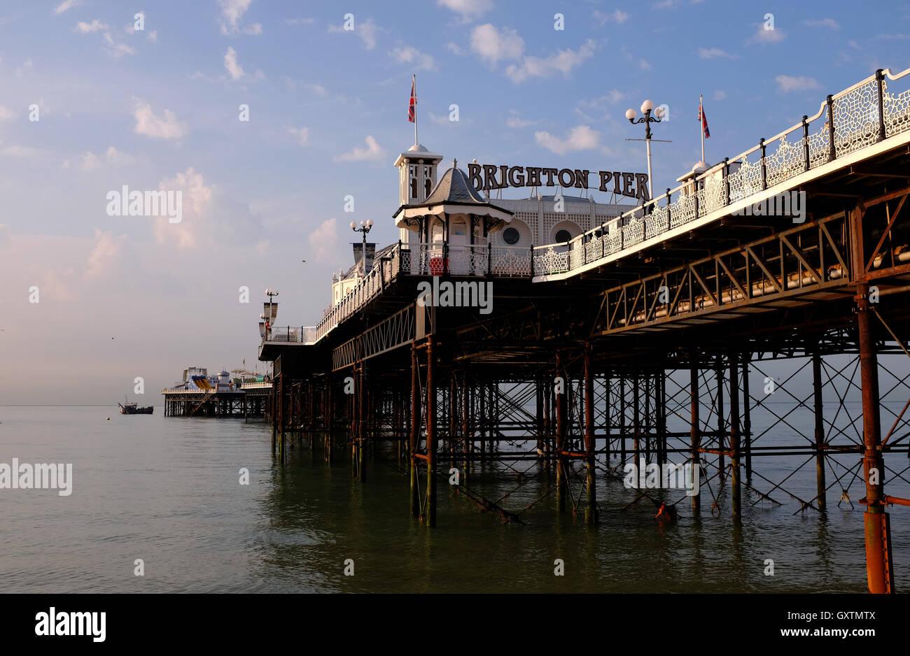 Brighton Pier formerly The Palace Pier UK - Stock Image